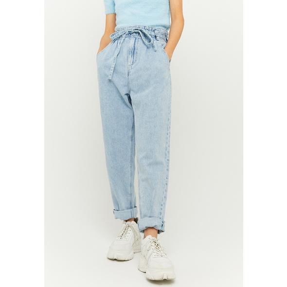 High Waist Paperbag Slim Jeans