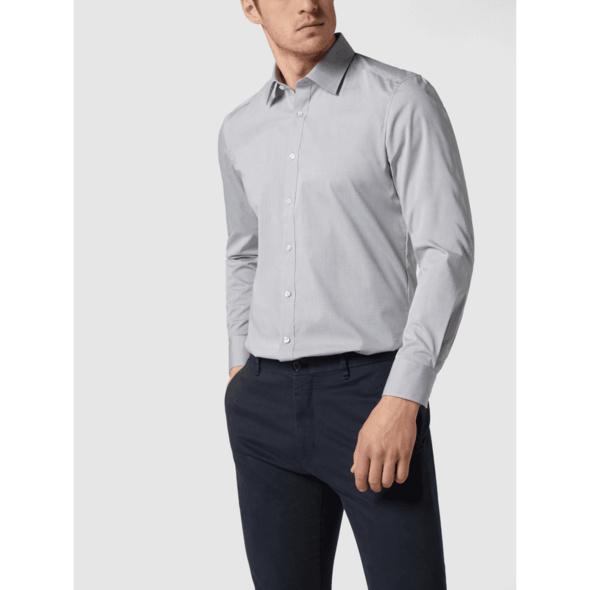 Slim Fit Business-Hemd mit Stretch-Anteil