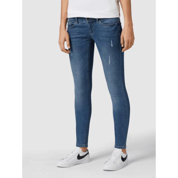 Skinny Fit 5-Pocket-Jeans im Used Look