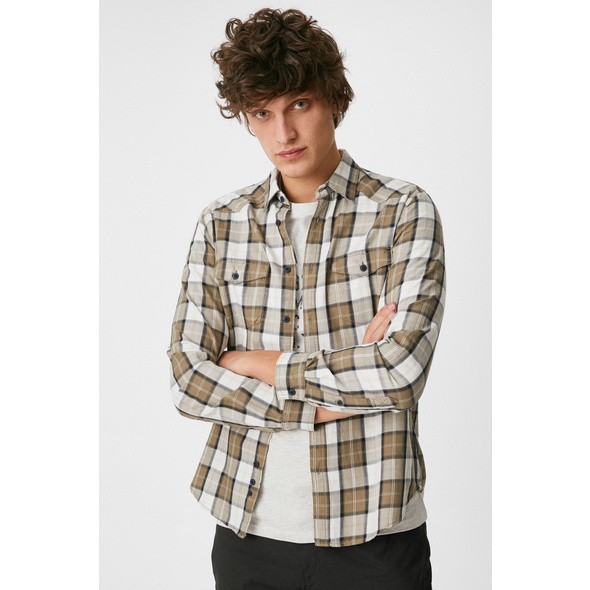 Hemd mit T-Shirt - Slim Fit - Kent