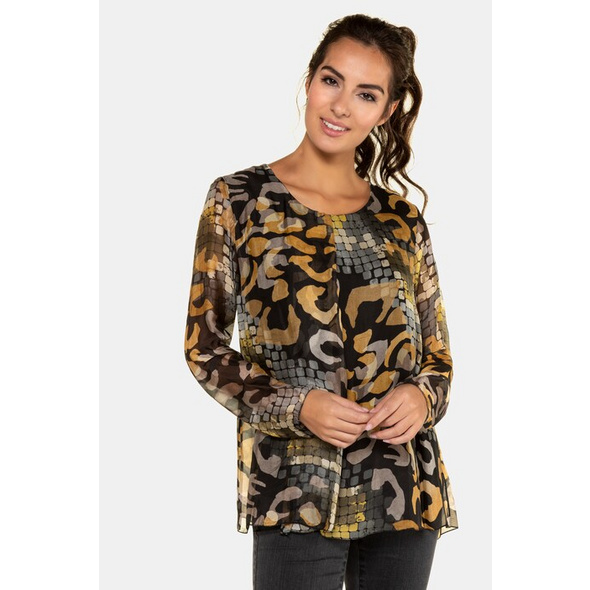 Gina Laura Bluse, Mustermix, Seidenmischung