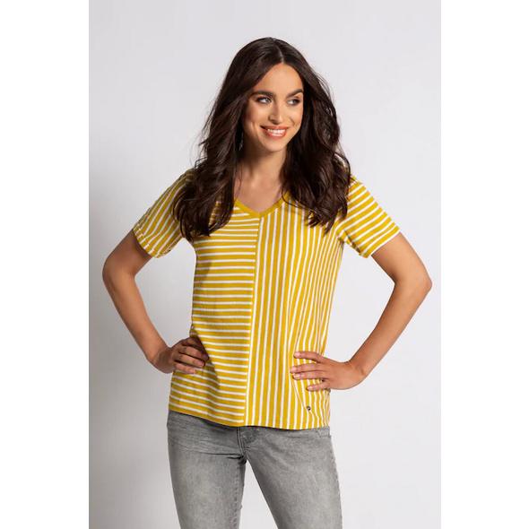 Gina Laura T-Shirt, Streifenmix, Biobaumwolle