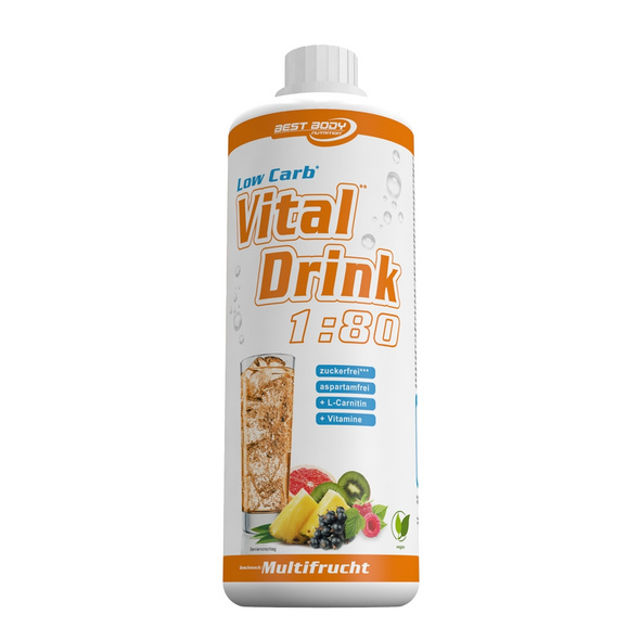 Best Body Nutrition Low Carb Vital Drink 1000ml-Bitter-Lemon