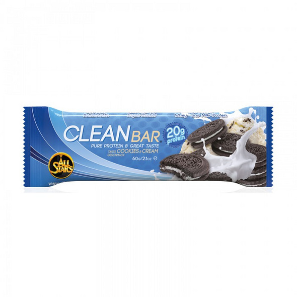 All Stars Clean Bar 60g-Doppel-Schoko