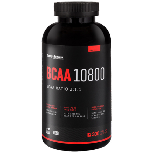 Body Attack BCAA 10800 300 Kapseln