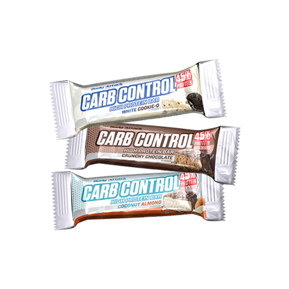 Body Attack Carb Control Riegel 40g-Crunchy-Schoko