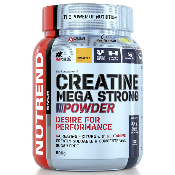 Nutrend Creatine Mega Strong Powder 500g-Peach