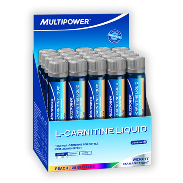Multipower L-Carnitin 20 Ampullen 1800mg-Pfirsich