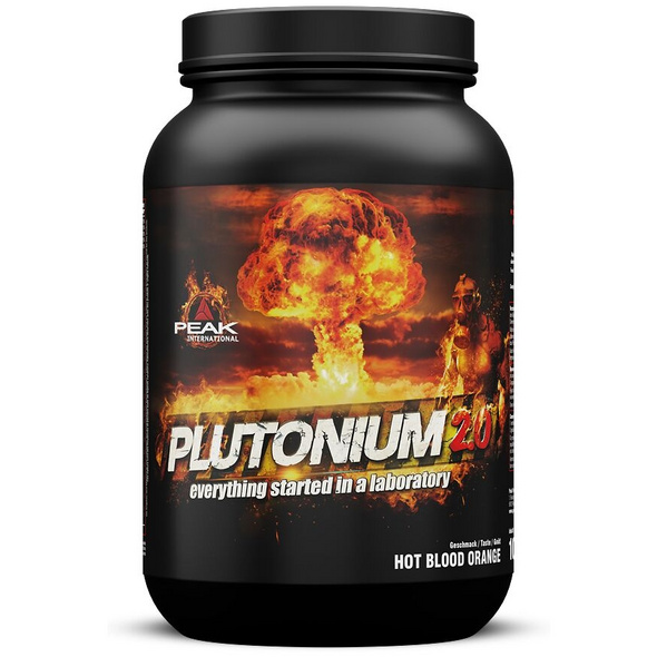 Peak Plutonium 2.0 1000g (925 g Pulver + 75 Kapseln)-Hot-Blood-Orange