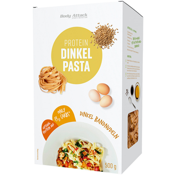 Body Attack Protein Dinkel Pasta Bandnudeln 500g