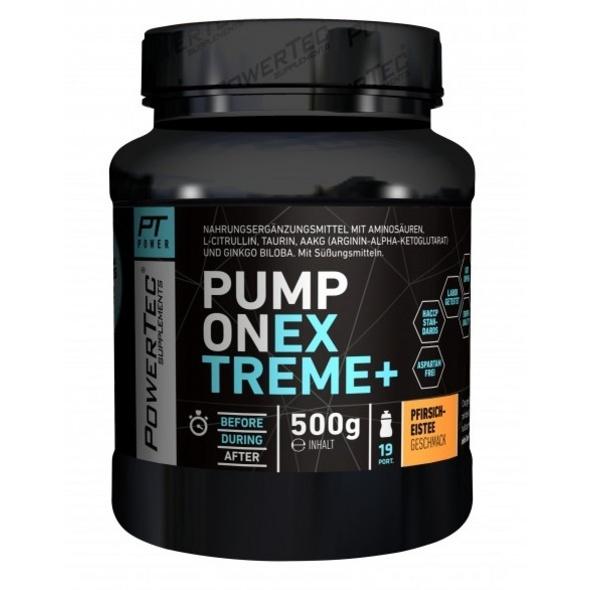 PowerTec Pump ON Extreme+ 500g-Pfirsich-Eistee