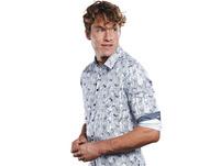 Außergewöhnlich gemustertes Langarmhemd
