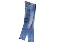 Helle High Stretch Jeans mit Waschungen
