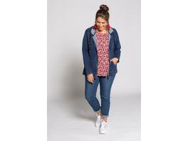 Sweatjacke, Jeans-Look, Kapuze, Nietenband