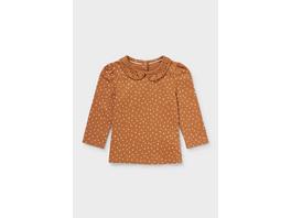 Baby-Langarmshirt - Bio-Baumwolle - gepunktet