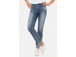 Gina Laura Jeans Julia, innen bedruckt, schmale 5-Pocket
