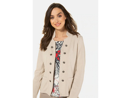 Gina Laura Jerseyblazer, Uniform-Stil, Schmuckknöpfe, Stretch