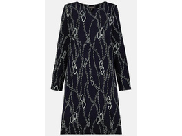 Gina Laura Jerseykleid, Kettenmuster, O-Silhouette, Jacquard