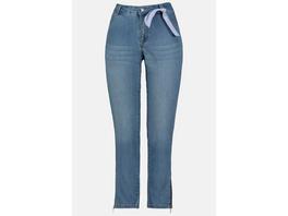 Jeans Julia, Saum-Reißverschluss, schmale Form