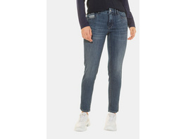 Gina Laura Jeans Julia, Streifen-Details, schmale 5-Pocket-Form