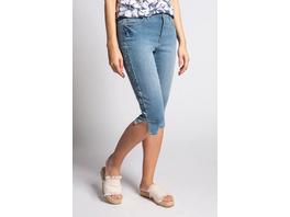 Capri-Jeans Julia, Galonstreifen, schmale 5-Pocket-Form