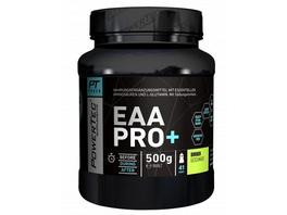 POWERTEC SUPPLEMENTS EAA Pro+ Drink - Pulver mit essentiellen Aminosäuren und Glutamin - für raschen Muskelaufbau  Muskelerhalt und Regeneration Cola  500 g