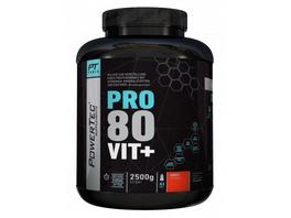 POWERTEC SUPPLEMENTS Pro 80 Vit+ - hochwertiges Proteinpulver mit Vitaminen. Zink und Chrom - rasche. anhaltende Eiweißversorgung (Neutral). 2500g